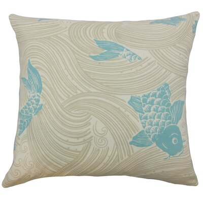 Ailies Graphic Bedding Sham Size: Queen, Color: Lagoon