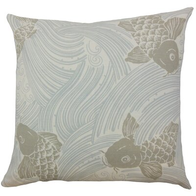 Ailies Graphic Throw Pillow Color: Mist, Size: 24 x 24