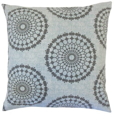 Elyes Geometric Cotton Throw Pillow Color: Rain, Size: 18 x 18