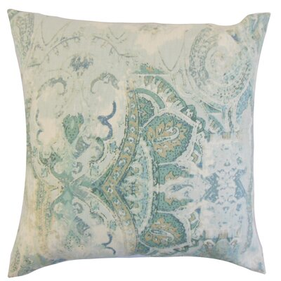 Havilah Floral Linen Throw Pillow Color: Dreamie, Size: 18 x 18