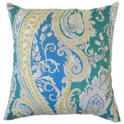 Efharis Cotton Throw Pillow Color: Calypso Blue, Size: 18 x 18