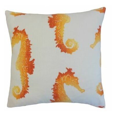 Xenos Outdoor Throw Pillow Color: Tangerine, Size: 22 x 22