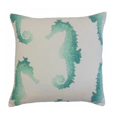 Xenos Outdoor Throw Pillow Color: Turquoise, Size: 18 x 18