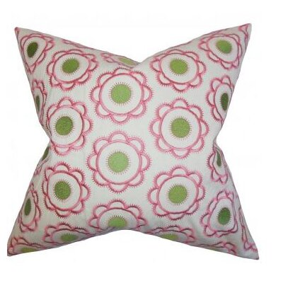 Harven Floral Cotton Throw Pillow Size: 18 x 18