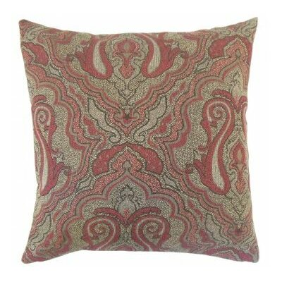 Karleshia Damask Throw Pillow Size: 18 x 18