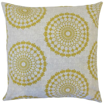 Elyes Geometric Cotton Throw Pillow Color: Citrine, Size: 24 x 24