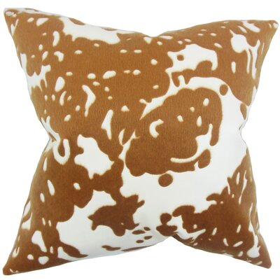 Linden Graphic Throw Pillow Color: Brown, Size: 24 x 24