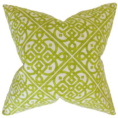 Auden Geometric Cotton Throw Pillow Color: Keylime, Size: 18 x 18