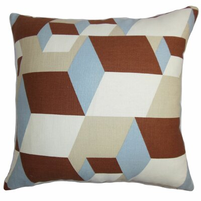 Fan Geometric Throw Pillow Size: 22 x 22