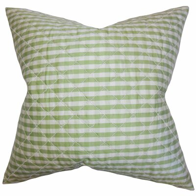 Addisyn Plaid Silk Throw Pillow Color: Green