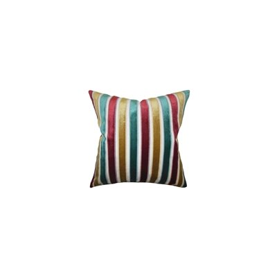 Alton Stripes Throw Pillow Color: Poppy, Size: 18 x 18
