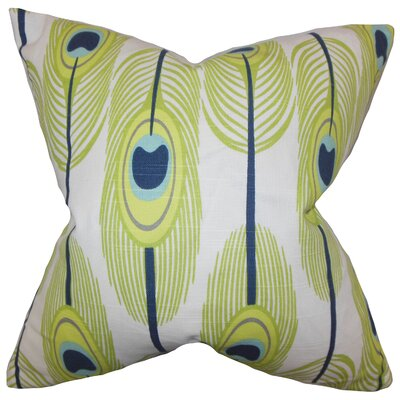 Hedy Feather Pillow Color: Green, Size: 18 x 18