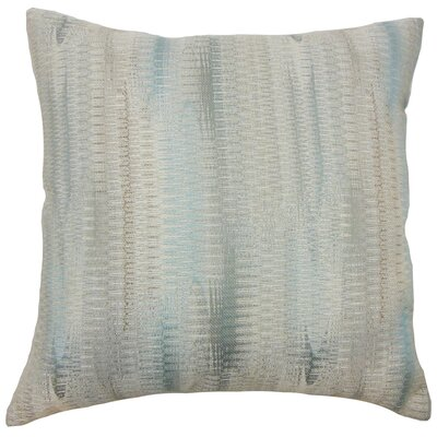 Ngozi Throw Pillow Color: Placid, Size: 18 x 18