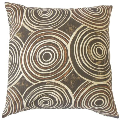 Ahuva Geometric Cotton Throw Pillow Color: Terrain, Size: 24 x 24