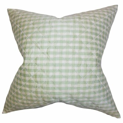 Addisyn Plaid Silk Throw Pillow Color: Light Green