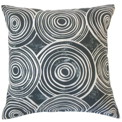 Ahuva Geometric Cotton Throw Pillow Color: Kohl, Size: 18 x 18