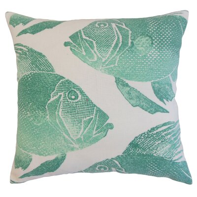 Lael Outdoor Throw Pillow Color: Aqua, Size: 18 x 18