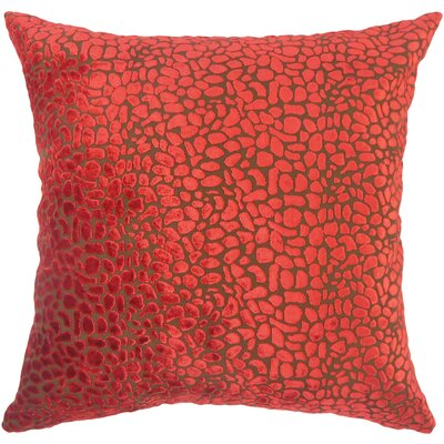 Alexandria Rose Velvet Throw Pillow Size: 18 X 18