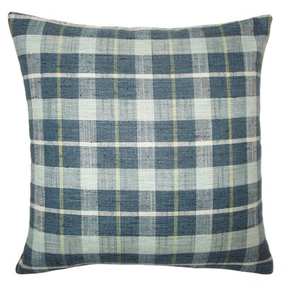 Quinto Plaid Throw Pillow Color: Marine, Size: 22 x 22