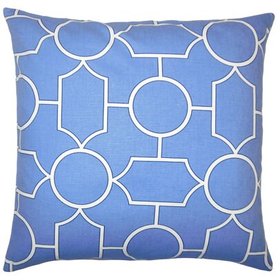 Samoset Geometric Bedding Sham Size: Euro, Color: Chambray