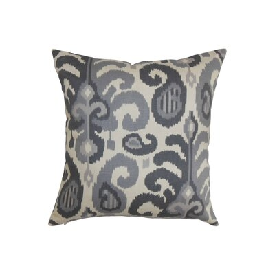 Scebbi Cotton Throw Pillow Color: Steel, Size: 18 x 18