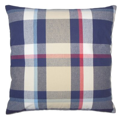 Ofer Plaid Cotton Throw Pillow Cover Color: Red Blue