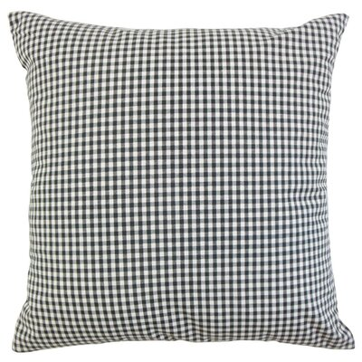 Keats Plaid Bedding Sham Size: King, Color: Black