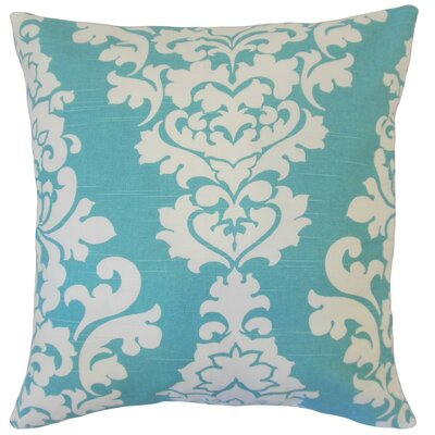 Wilona Cotton Throw Pillow Color: Blue, Size: 20 x 20
