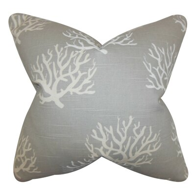Hafwen Coastal Bedding Sham Size: Euro, Color: Gray