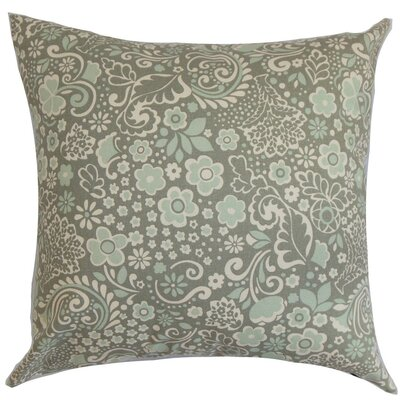 Manchineel Floral Cotton Throw Pillow Cover