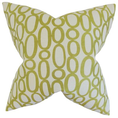 Razili Geometric Throw Pillow Cover Color: Green