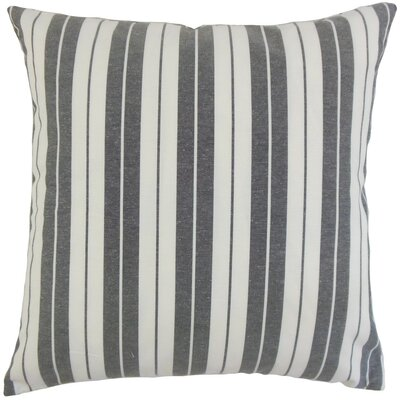Henley Stripes Bedding Sham Size: Euro, Color: Black
