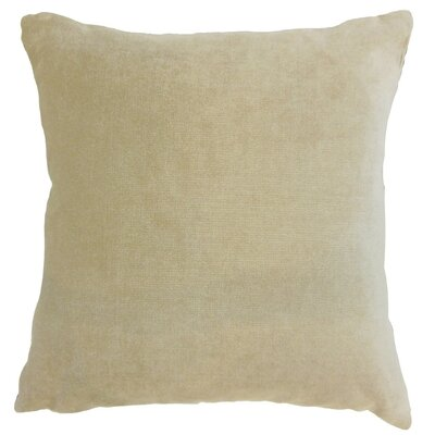 Daire Solid Cotton Throw Pillow Cover