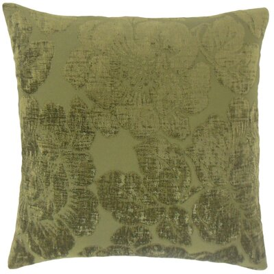 Sarafina Floral Throw Pillow Cover Color: Jade