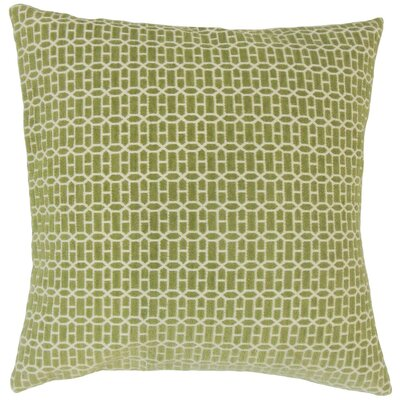 Yancy Geometric Throw Pillow Cover Color: Kiwi