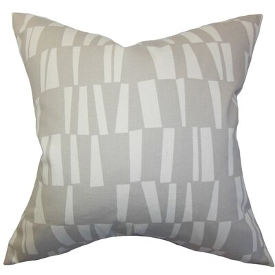 Iker Geometric Cotton Throw Pillow Cover Color: Gray