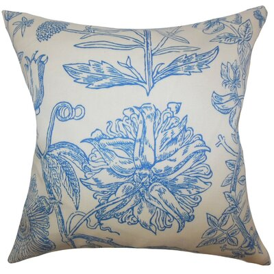 Neola Floral Throw Pillow Cover Color: Blue