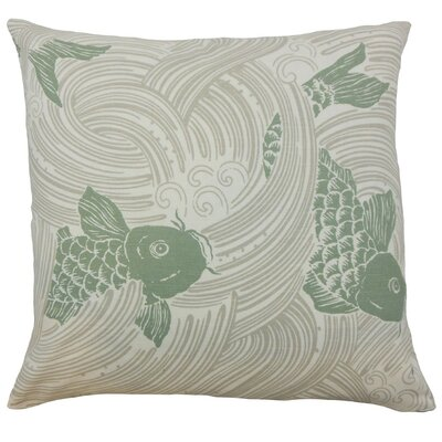 Ailies Graphic Throw Pillow Cover Color: Kelp