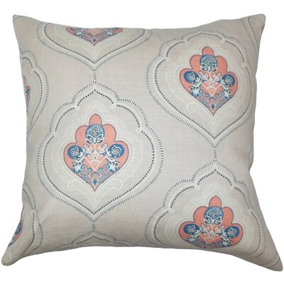 Beauford Floral Throw Pillow Color: Coral, Size: 24 x 24