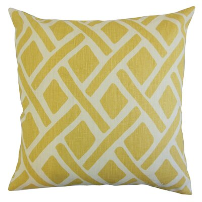Buono Geometric Throw Pillow Cover Color: Sunflower