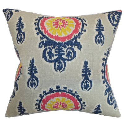 Oenpelli Ikat Cotton Throw Pillow Cover Color: Birch