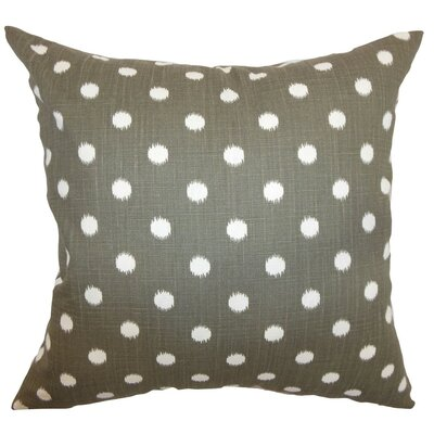 Rennice Ikat Dots Throw Pillow Cover Color: Brown Dossett