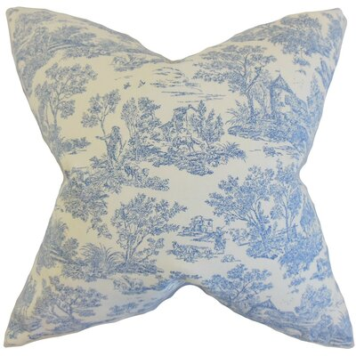 Ramira Toile Throw Pillow Cover Color: Denim