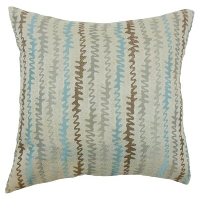 Malu Zigzag Throw Pillow Cover Color: Placid
