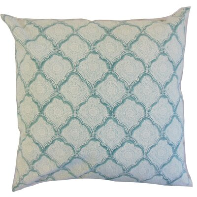 Chaney Geometric Square Throw Pillow Cover Color: Aqua Mist