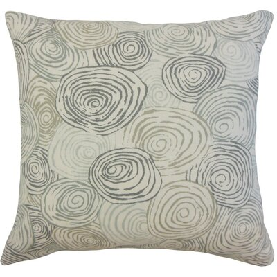Blakesley Graphic Cotton Throw Pillow Cover Color: Mineral