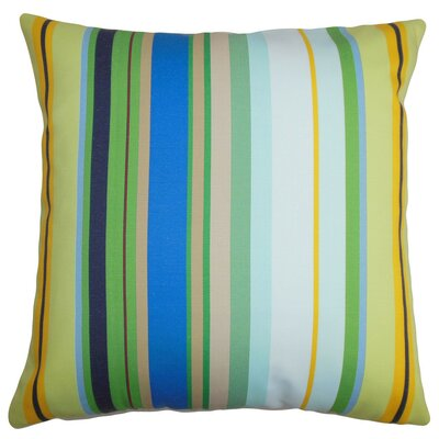 Laird Stripes Cotton Throw Pillow Cover Color: Blue White