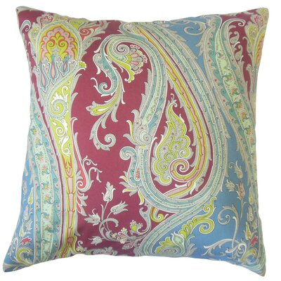 Efharis Paisley Bedding Sham Color: Crimson, Size: Standard
