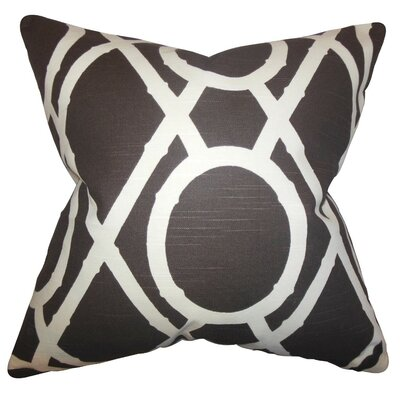 Whit Geometric Throw Pillow Cover Color: Terrain