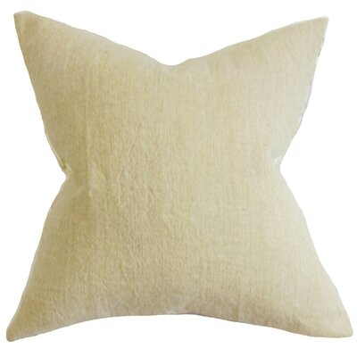 Yaretzi Solid Throw Pillow Cover Color: Natural
